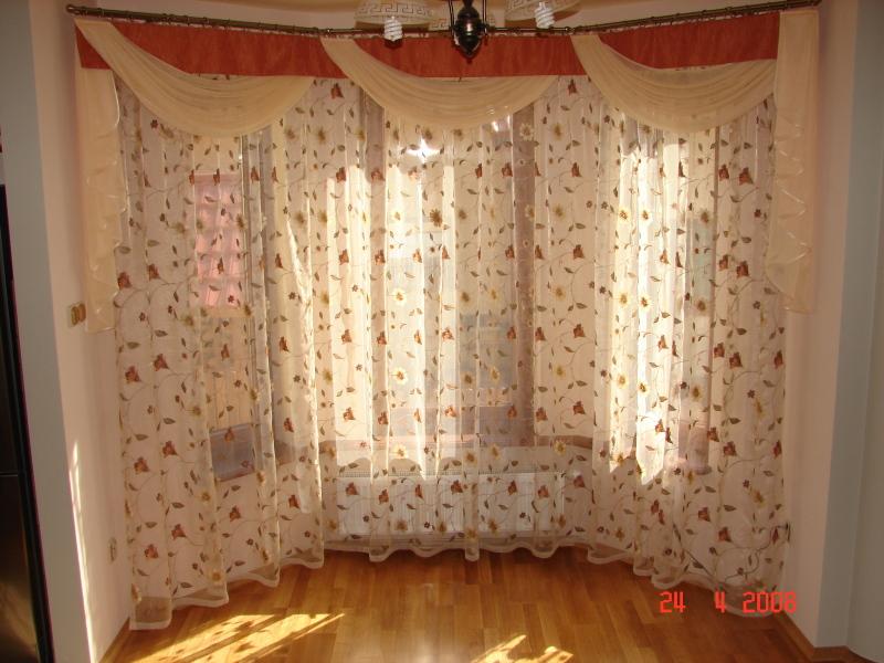 dekoracja okna wykuszowego